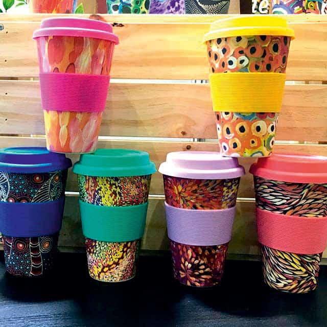 Keep Cups with Aboriginal artwork