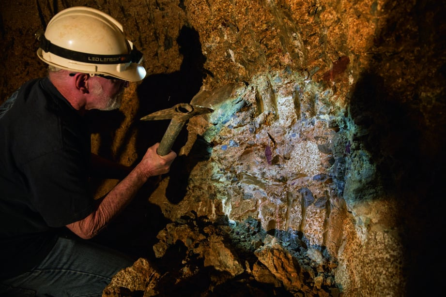 Mining in the gemfields