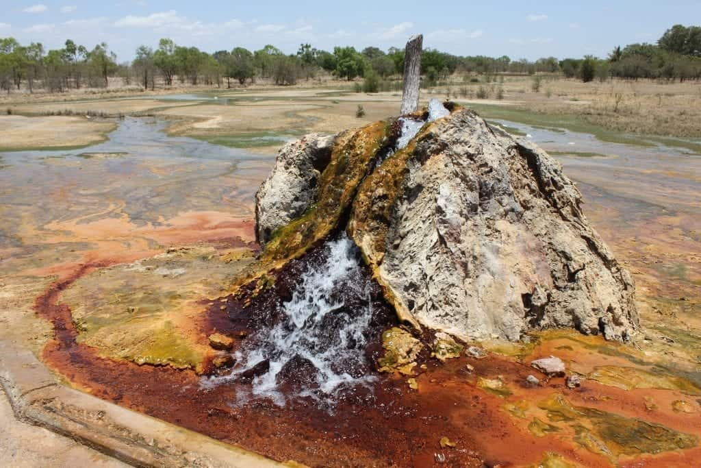 Flowing artesian bore in Burketown