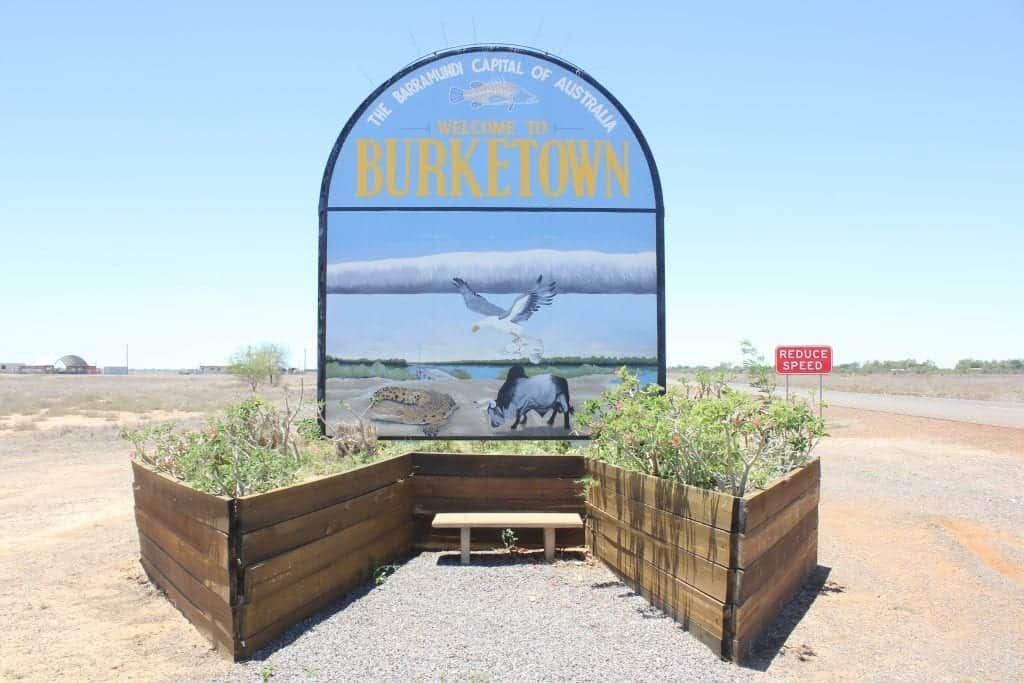 Image of the Burketown Welcome Sign