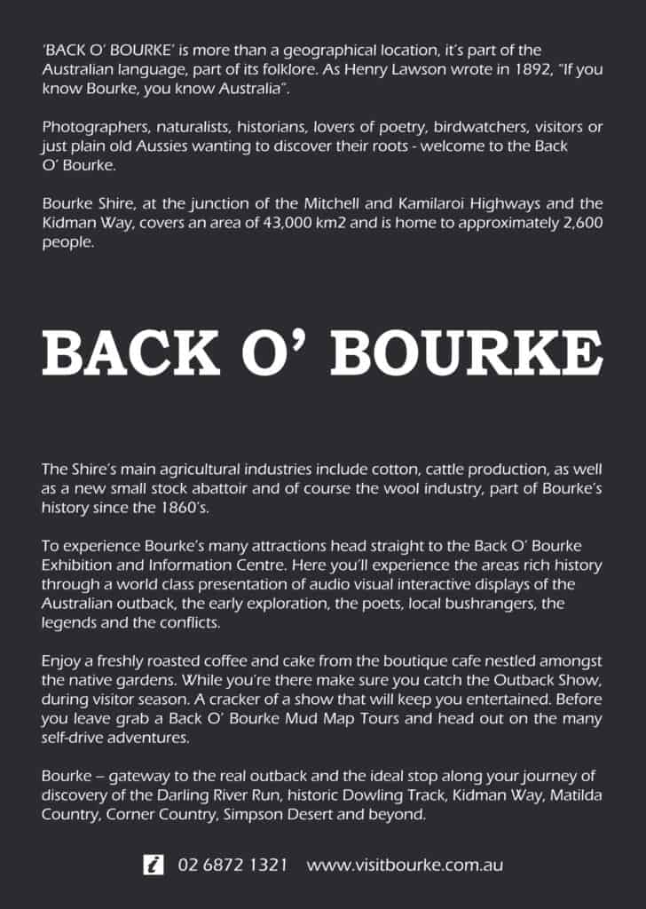Back O'Bourke Advertisement