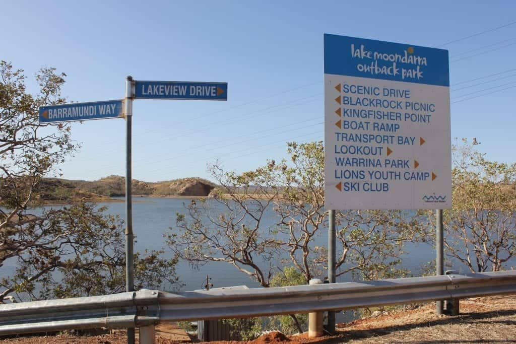 Signs at Lake Moondarra