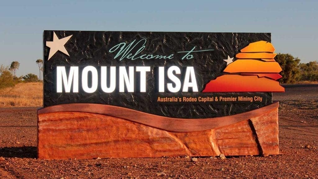 Mount Isa welcome sign