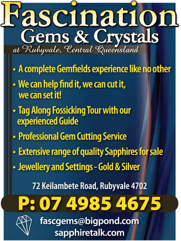 Fascination Gems and Crystals Advertisement