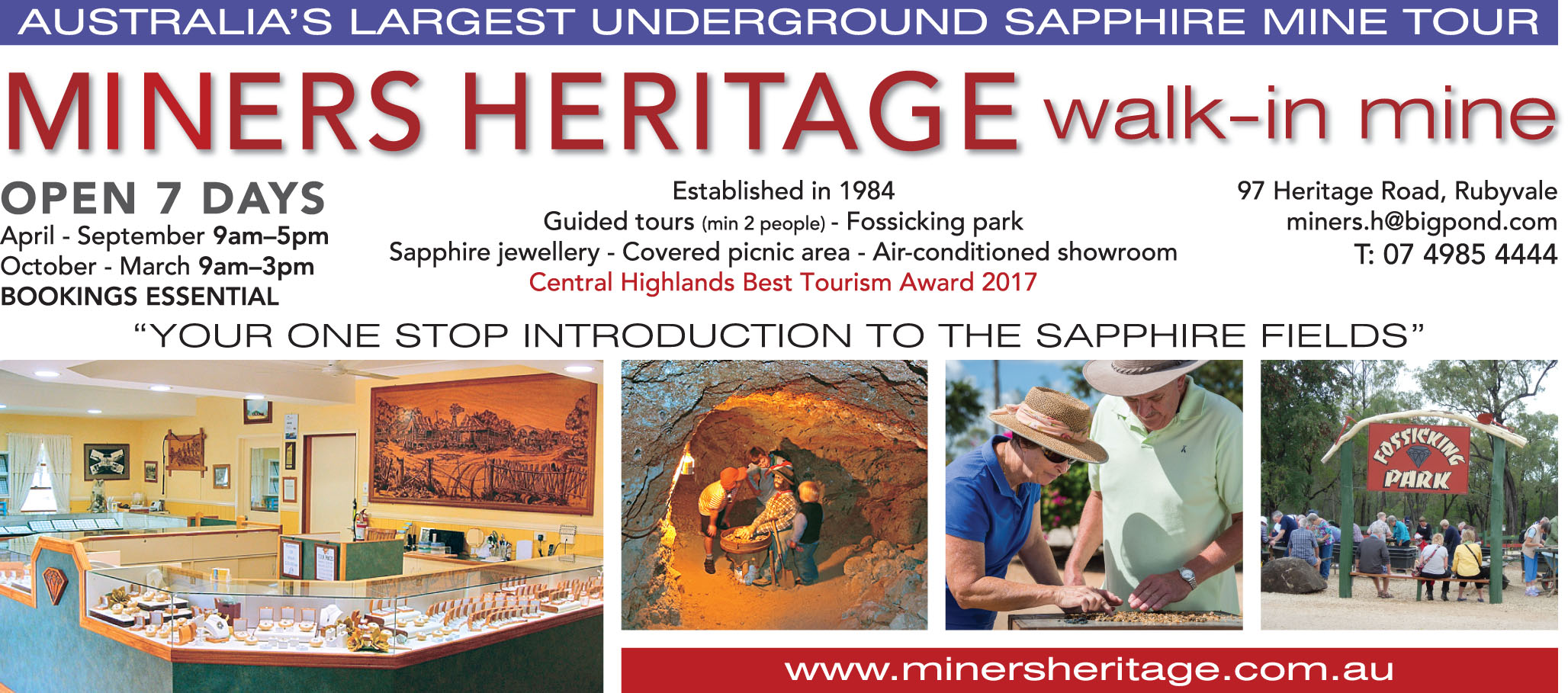 Miners Heritage walk-in mine tours