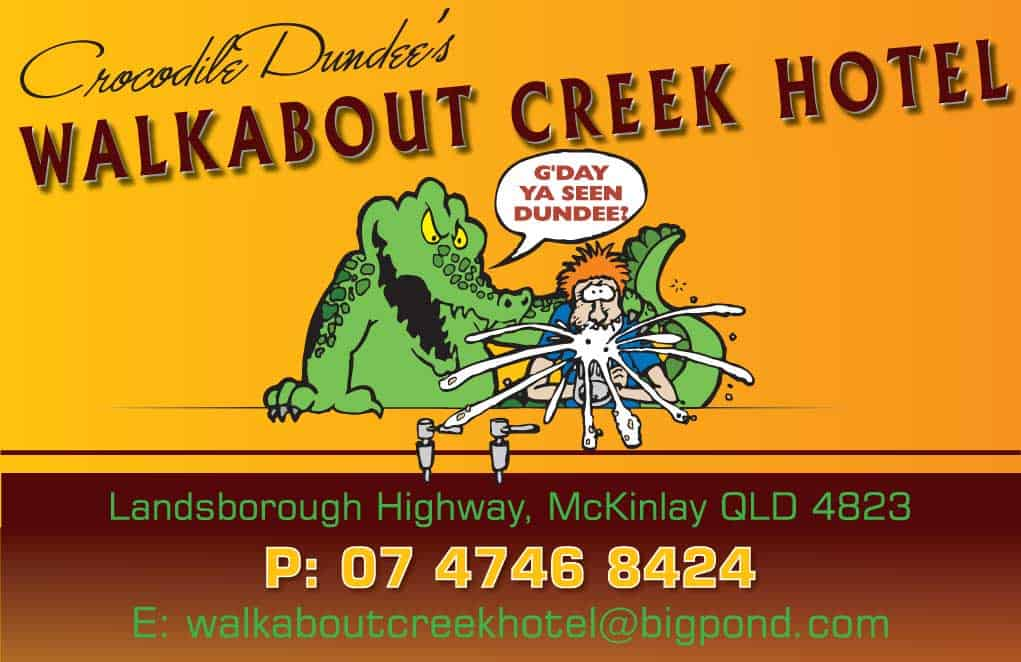 Walkabout Creek Hotel Advertisement