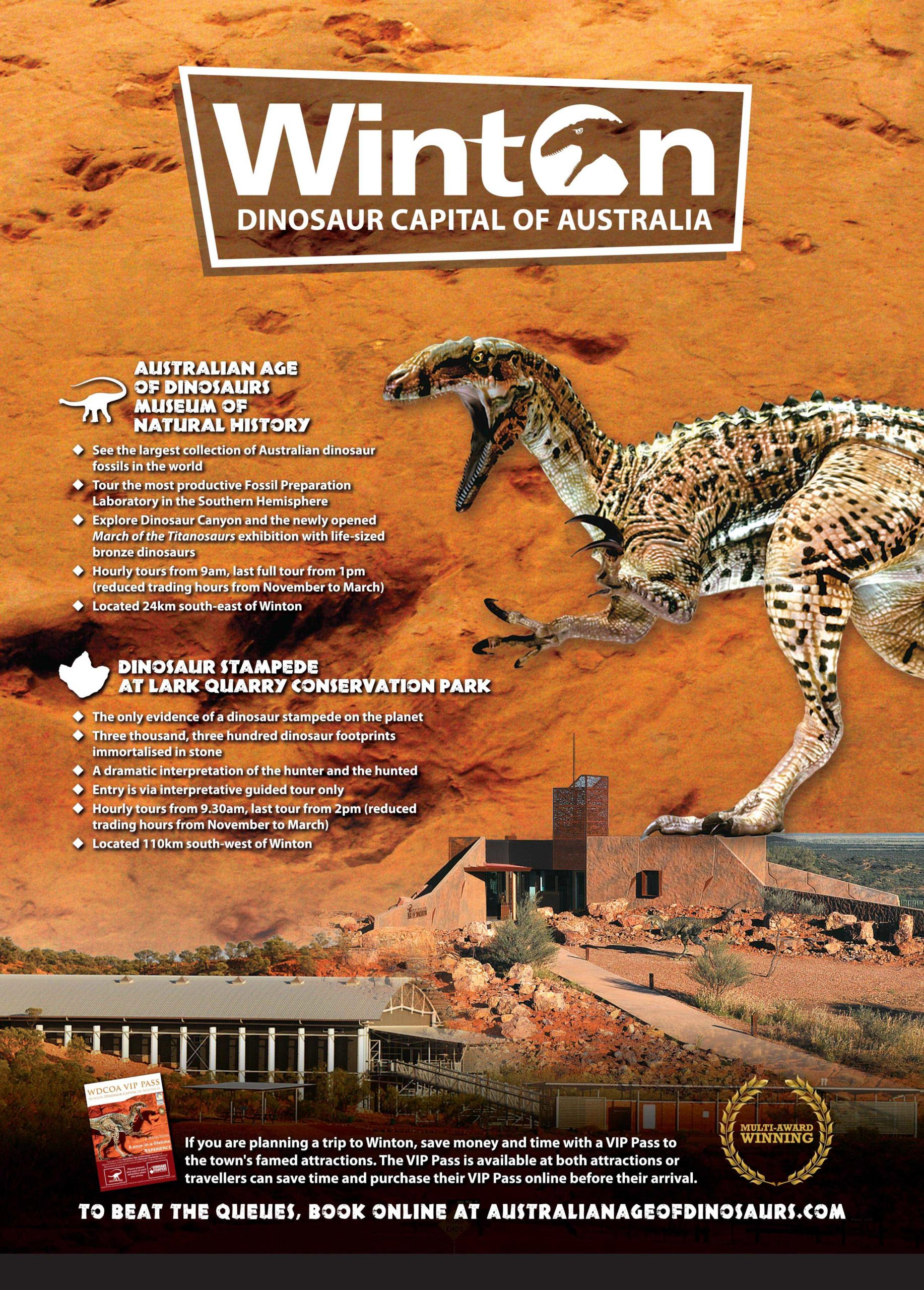 Winton Dinosaur Capital of Australia