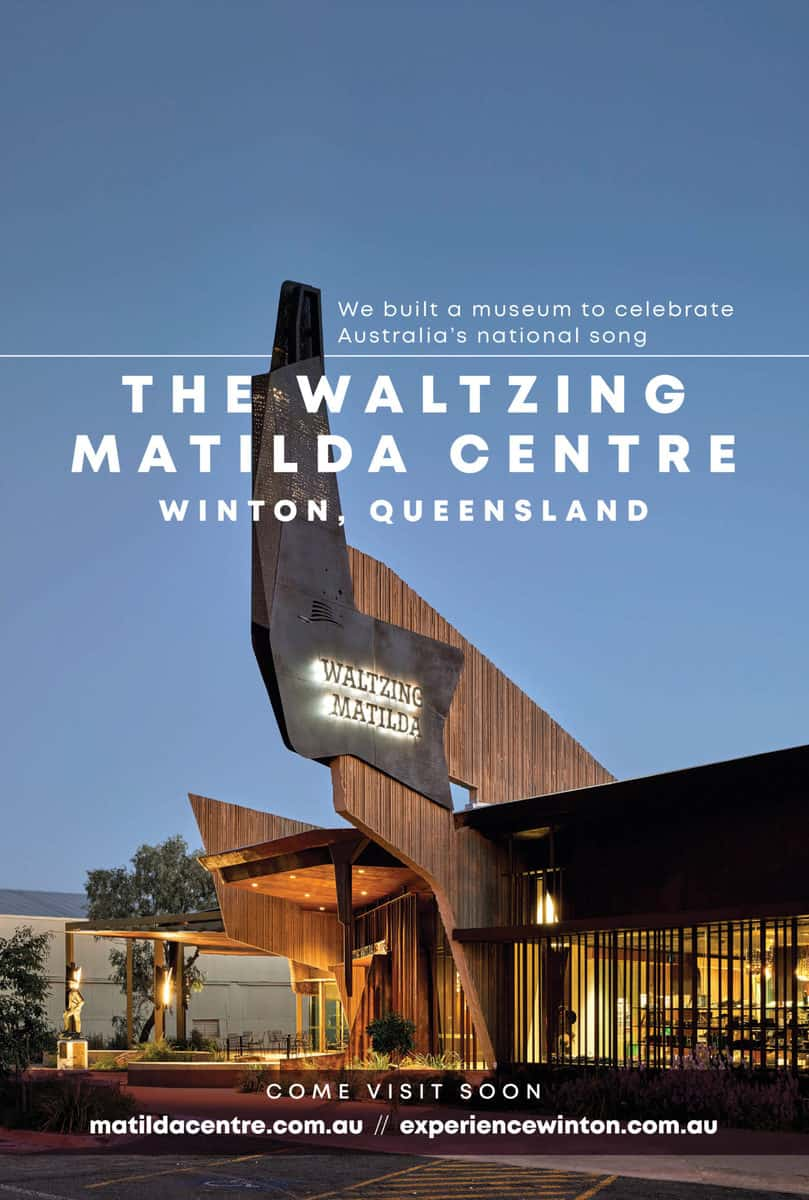 The Waltzing Matilda Centre Advertisement
